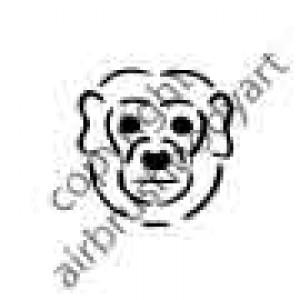0245 monkey face reusable stencil